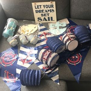 Nautical Baby Shower Party Supply Lot